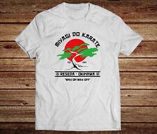 Karate Kid Mens T-Shirt Miyagi Do Karate Retro Movie Tee Cobra Kai Strike Hard
