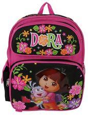 """Brand New Dora the explorer 14"""" Girls' Full Size Backpack Kids School Book Bag"""