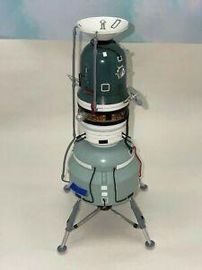 RARE Vintage Hand Crafted Soviet CCCP Metal Concept Lunar Lander Module Model