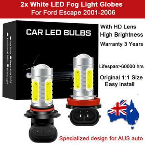 2x Fog Light Globes For Ford Escape 2002 2003 Spot Lamp 6000K White LED Bulb kit