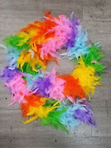 2 yards multi color chandelle Feather Boa ,FREE SHIPPING ,USA SELLER