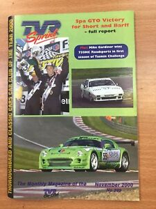 TVR Car Club Sprint Magazine November 2000 Issue No 299 Tasmin 750MC