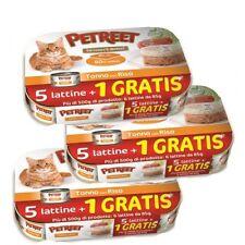 Petreet  Tonno e Riso  Scatolette Gatti 85gr   Multipack 5+1 N°6 Confezioni