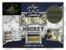 2019-20 LEAF LUMBER KINGS HOCKEY - FACTORY SEALED EMERALD HOBBY BOX