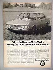 BMW 2500/2800 PRINT AD - 1969