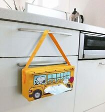New Snoopy School Bus Hunging Tissue Box Case Cover Car & Kitchen PEANUTS