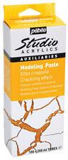 Pebeo Studio Acrylics Modeling Paste Crackling Weathered Effect Paint Medium Kit
