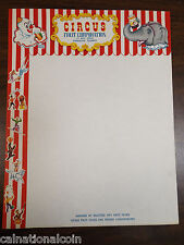 Sarasota, Florida Circus Fruit Corporation Vignette Unused Stationary Paper