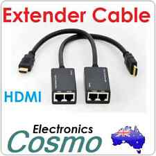 HDMI/DVI to RJ45 Cat 5e/6 Extender 30M 100FT 1080p HDTV