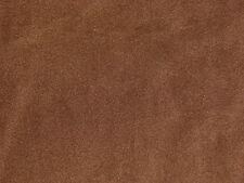 Chocolate Brown Solid Color Anti-Pill Fleece Fabric  by the Yard   BTY