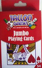 Tallon Games Jumbo Playing Cards Toy Game Kids Play Gift Christmas 85x123mm 28
