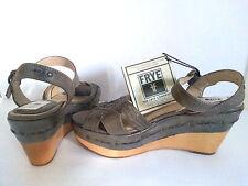 FRYE WEDGE SHOES - CARLIE HUARACHE - UK SIZE 6 - NEW - NO BOX - 20K+ F/DBK BB204
