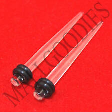 0622 Clear Acrylic Stretchers Tapers Expanders 8G 8 Gauge 3.2mm MallGoodies