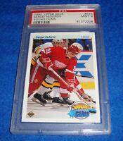 1990 Upper Deck Sergei Fedorov Rookie card #525 PSA 9 Mint Detroit Red Wings
