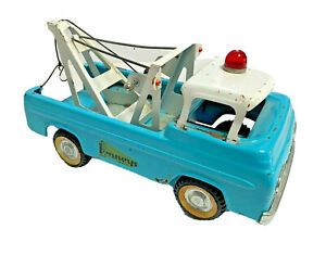 Nylint Pennys Vtg Ford Pickup Blue Tow Truck Car Trailer Metal Steel Toy Old