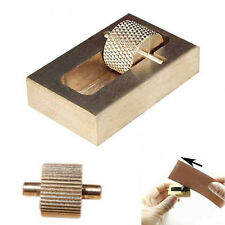 Leather Craft Making Oil Painting Box + 2 Rollers Brass-Hand Making Sewing Tools