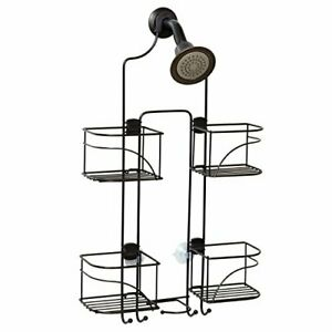 New Over The Shower Head Caddy Storage Expandable Bathroom Organizer Rack Holder