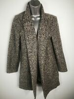 WOMENS F&F GREY KNITTED OPEN FRONTED MID LENGTH POCKET CARDIGAN SIZE UK 8