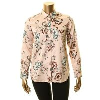 LAUREN RALPH LAUREN Women's Floral Two Pockets Button Down Shirt Top TEDO