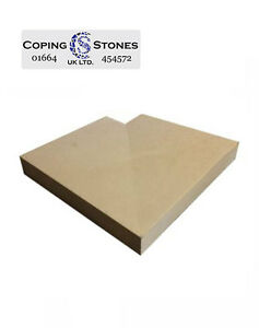 Corner Coping - 500mm x 400mm Once Weathered Corner (Various Colours Available)