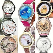 Women Men Analog Quartz Wrist Watch Dolphin Swans Rabbit Snails Panda Flamingo