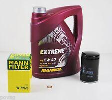 5 Liter Motoröl MANNOL EXTREME SAE 5W-40 mit MANN Ölfilter und Dichtring VW AUDI