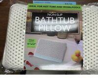 Non-Slip Cushioned Bath Tub Spa Pillow W/ Suction Cups Great  Relaxing  Bathtub
