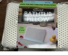 Non-Slip Cushioned Bath Tub Spa Pillow W/ Suction Cups Great  Relaxing  Bathtub