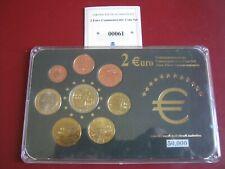 Greece 2000-s UNC Coin Set Collection: Cent - 2004 Commemorative 2 Euro COA Card
