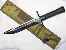 AR Stainless Steel Bayonet Knife, Extra Long 8 Inch Blade!