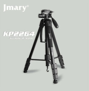 Jmary 4 Section Aluminium Tripod & Monopod 2in1 with 3D Rotating Head Kit-Black