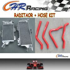 NEW ALUMINUM RADIATOR AND RED HOSE FOR KAWASAKI KX125 1990 1991 1992