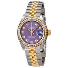 Rolex Lady Datejust Violet Stripe Diamond Dial Automatic Ladies Watch 279383VDJ