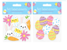 1 x 8 Pack Easter Felt Embellishments Cardmaking Easter Decoration Art and Craft