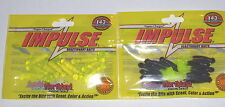"Northland Tackle Impulse 1.5"" Paddle Tail Jig Trailers (Lot 2-Hot Color-10/pk)"