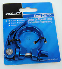XLC 34.9mm Alloy Quick Release Bicycle Seat Post Clamp Blue QR
