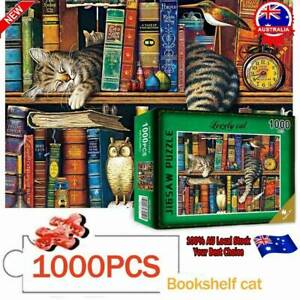 AU 1000piece Sleepy Cat Jigsaw Puzzle For Kids Learning Education Christmas Gift
