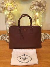 Authentic Large PRADA Logos Saffiano Hand Bag EUC *RARE*