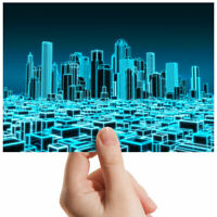 "City 3D Holographic Map Cool Small Photograph 6"" x 4"" Art Print Photo Gift #2399"