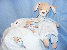Steiff New Baby Boy Bear Gift Set Suitcase Nice Gift Present Dog And Sleepsuit