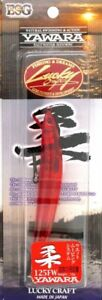 Lucky Craft Flash Minnow Yawara 125FW Floating In SOLID RED Pattern NEW