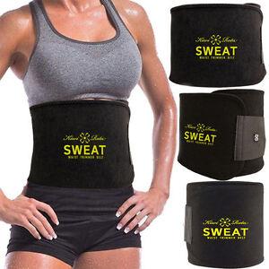 Sweat Trimmer Belt Wrap Stomach Control Slim Fat Burn Weight Loss Body Shaper UT