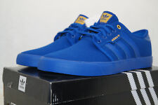 adidas originals SEELEY Skateboarding EU 43.3 UK 9 all blue blau B27347