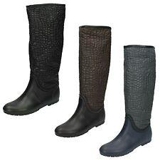 X1165- Ladies Spot On Crocodile Design Wellington Boot 2 Colours- Great Price!