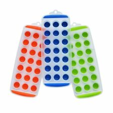 Silicone Easy Push Pop Out Mini Ice Cube Tray With Flexible Silicone Bottom