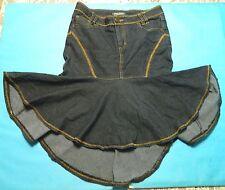 Bisou Bisou  Women's Denim Flare Skirt High Low Hem Size  8
