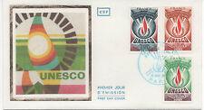 FRANCE 1975.F.D.C. SOIE.TIMBRES U.N.E.S.C.O..OBLITERATION:LE 15/11/75 PARIS