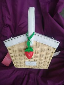NWT Kate Spade Wicker PICNIC IN THE PARK natural WKR00475