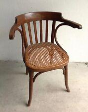Original THONET Stuhl m. Armlehnen  Netz unbeschädigt  antik