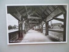 Ansichtskarte Säckingen a. Rhein Rheinbrücke